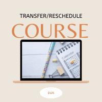 Transfer Reschedule Course