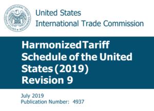 harmonized tariff schedule 2019