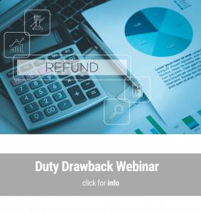 Duty Drawback Training, seminars, webinars, courses.