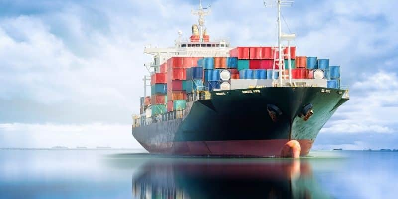 Cargo ship loaded with containers